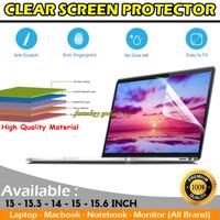Screenguard Laptop 13 13.3 14 15 inch Anti Gores Bening Layar Monitor - 13 13.3