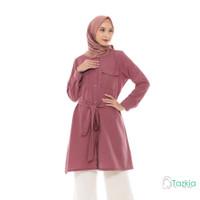 Atasan Muslim Wanita | Saffana Tunik Red | S M L XL | Tazkia Hijab