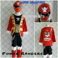 TOPENG NYALA Baju Kostum Anak Superhero Power Rangers SUPER MEGAFORCE