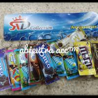 gantungan kunci snack/ gantungan tas/ gantungan miniatur snack