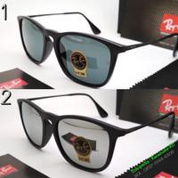 Kacamata Sunglasses Hitam Pria Lensa Kaca anti UV 400