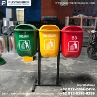 tempat sampah fiber oval organik anorganik b3 40 liter