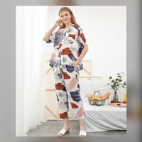 Alice Set in Autumn - Sleepwear / Piyama Baju Tidur Rayon by RAHA