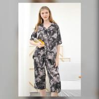 Kalla Set in Smoky Tiedy - Sleepwear / Piyama Baju Tidur Rayon by RAHA