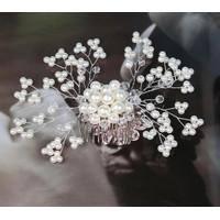 Hairpin Wedding Party Bridal Elegant Headwear Women Floral Faux Pearl