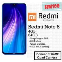 Xiaomi Redmi Note 8 4/64 ROM 64GB RAM 4GB GARANSI RESMI TAM / XIAOMI