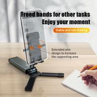 F6 Fully Foldable Cell Phone Holder Tablet Stand desktop lipat