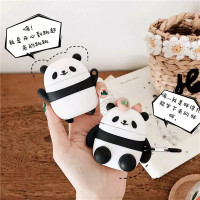 BUY 2 CASE AirPods gen 1&2 / inPods 12 - Panda 3D (Sit & Stand)