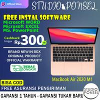 Apple Macbook Air 2020 M1 512GB 13 inch 256GB Grey Silver Gold iBox - Resmi INTER, 256GB GOLD