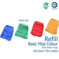 Refill Pel Alat Pel Lantai Basic Mop Colour Cleanmatic 216888