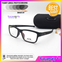 Kacamata Minus Baca Pria Gratis Lensa Photocromic 8027 Size 53-17-140