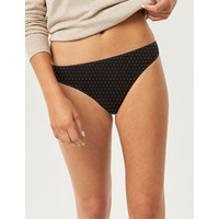 Thong Small Dots Print Black