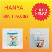 Paket Slime Kit Large + Cotton Sand/Slime Kit/Bahan Slime/Large BIRU