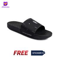 Sandal Pria Slide Footstep Footwear - Audi Black