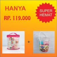 Paket Slime Kit Large + Cotton Sand/Slime Kit/Bahan Slime/Large PINK