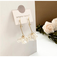 Anting Panjang Wanita Fashion Korea Shell White Tassel Aksesoris