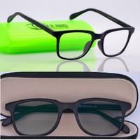 kacamata anti radiasi (frame+lensa) retro 75045 - Hitam doff, frame saja