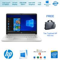 "Laptop HP 14s cf3040TU 14""HD i3-1005G1 4GB RAM - 1TB HDD W10 OHS 2019"
