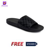 Sandal Pria Slide Footstep Footwear - Hexa Black