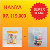 Paket Slime Kit Large + Cotton Sand/Slime Kit/Bahan Slime/Large KUNING