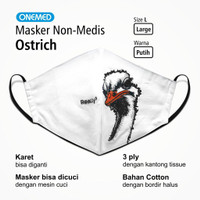 Masker Kain Ostrich Onemed 3Ply