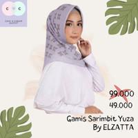 elzatta hijab segi empat motif Kanara Raissa - Lavender