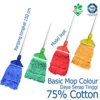 Pel Alat Pel Lantai Basic Mop Colour Cleanmatic 216871
