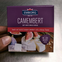 Emborg Camembert Soft White Mould Cheese 125gr