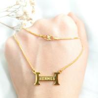 Branded Necklace Jewellery Hadiah Pacar Kalung Wanita Gold Emas asli
