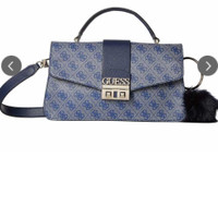 tas sling bag logo Luxe blue Guess original branded SALE