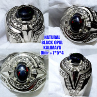 batu black opal kalimaya jarong cincin kalimaya
