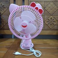 Kipas Angin Hello Kitty Meja Jepit Tembok Bisa Putar MS-5542 Seri 5553