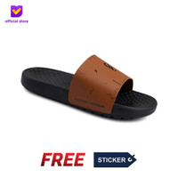 Sandal Pria Slide Footstep Footwear - Audi Brown