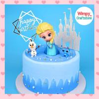 Cake Topper Miniature Frozen Hiasan Cake Kue Dekorasi Mainan Anak