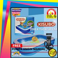 Kolam Renang Berenang Anak Jumbo Kisubo 2 Meter Paket Pompa Manual
