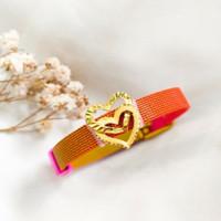 Gelang Double Love Cristal Wanita Korea Hadiah Teman Gold Emas asli