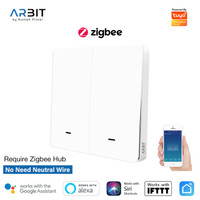ARBIT Smart ZigBee Wall Switch 2 Gang Without Neutral TUYA (legacy)