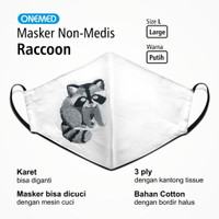 Masker Kain Racoon Onemed 3Ply