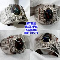 batu black opal kalimaya jarong cincin kalimaya asli