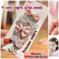 4 set jepit pita princess rabbit jepit pita korea princess rabbit