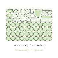 Moon Pancake Mini Sticker Colorful Days Series - Thursday