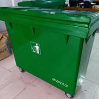 tong sampah besar 660 liter - Biru Muda