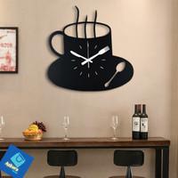 Jam Dinding Model Kopi - Quartz Coffe Jam DIY