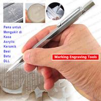 Pena Ukir Besi Solid Steel Engraving Scriber Pen Tungsten Carbide Tip