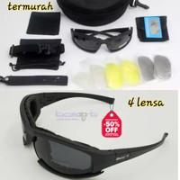 Kacamata Sepeda Sport Tactical Daisy X7 Ada 4 Lensa Polarized Lengkap