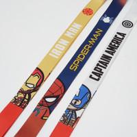 Tali ID Card Lanyard Phone Strap HP SpiderMan Iron Man Captain America