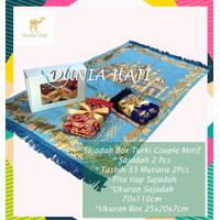 Paket Kado Pernikahan Sajadah Couple Turki Hadiah Wedding Box &Tasbih