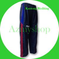 Training Panjang Fila Kantong Resliting | Celana Olahraga Gym Pria