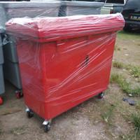 TEMPAT SAMPAH BESAR 660 liter FIBERGLASS VOL 660 LITER - Merah