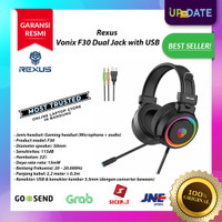 Headseat Rexus F30 Vonix RGB Dual Jack with USB - Gaming Headset